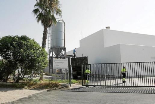 IBIZA - Imagen de las instalaciones de la actual estación depuradora de Vila.