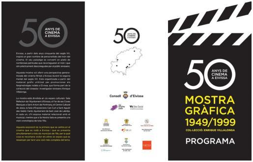 Programa de '50 años de cine en Ibiza'.