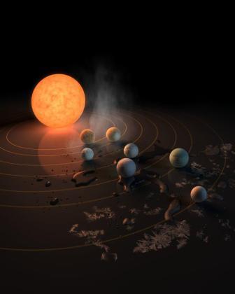 Un grupo de astrónomos ha descubierto que la enana ultrafría conocida como TRAPPIST-1 alberga siete nuevos planetas del tamaña de la Tierra con posibilidades de albergar océanos de agua.