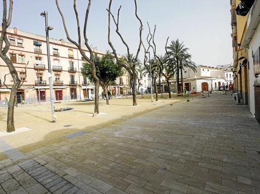 La parte de la plaza del Parc que está prácticamente acabada.