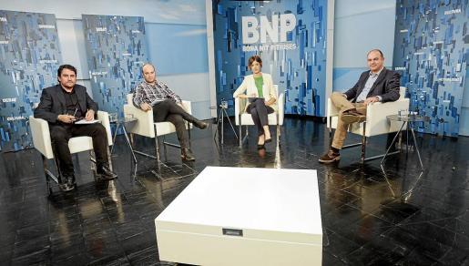 Vicent Marí fue el invitado ayer en el programa que presenta la periodista Núria Arias en la TEF.