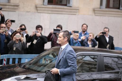 Iñaki Urdangarin a su llegada a los juzgados de Palma.