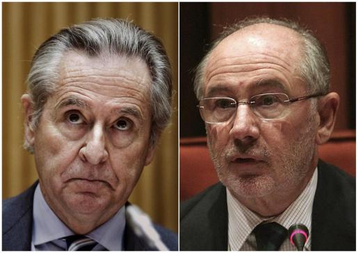 Combo de fotografías de archivo de los expresidentes de Caja Madrid Miguel Blesa (i) y Rodrigo Rato.