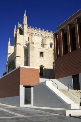 Vista del nuevo edificio del Museo del Prado, en Madrid, diseñado por Rafael Moneo.