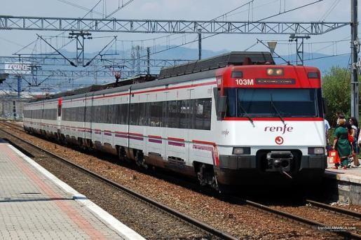 Imagen de archivo de un tren de Cercanías de Renfe.