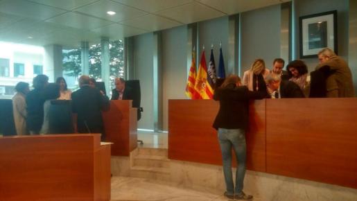 Un momento del pleno del Consell d'Eivissa. Foto: R.J.P.