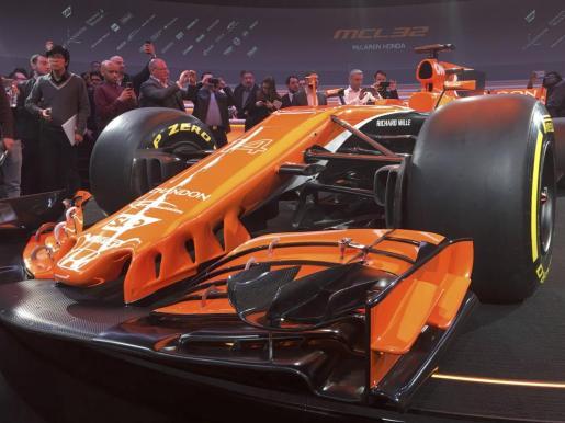 Imagen del nuevo McLaren presentado ayer en Woking.