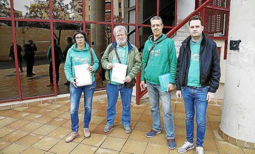 Font, Sastre, Palou y Crespí, ayer, en la Conselleria. Foto: JOAN TORRES