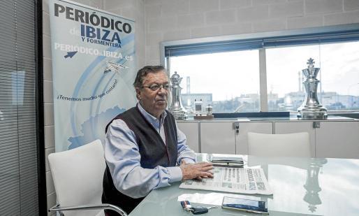 Joan Bufí, durante la entrevista concedida a Periódico de Ibiza y Formentera en las instalaciones del Grupo Prensa Pitiusa.