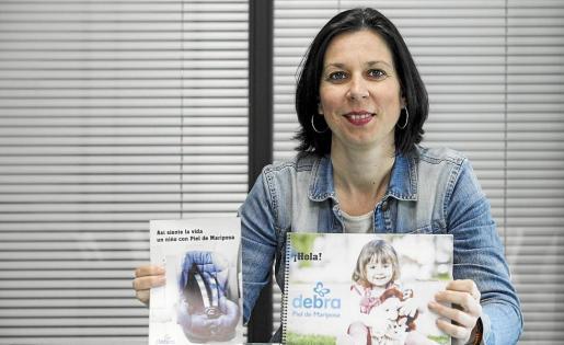 Eva Marqués, en la sede del Periódico de Ibizay Formentera.