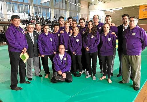 Una imagen del equipo júnior balear en la fase sector del Campeonato de España.