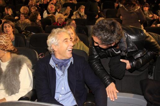 Alain Deymier, ayer en el Cine Serra antes del pase privado de su película.