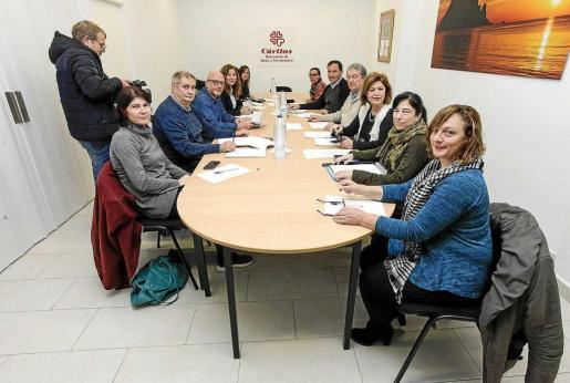 Una imagen de la reunión de la Mesa contra la Exclusión Social celebrada el pasado mes de enero.