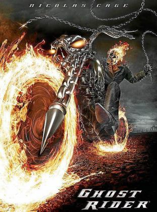 Cartel del film 'Ghost Rider: El motorista fantasma'.