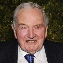 Imagend el perfil de Twitter de David Rockefeller.