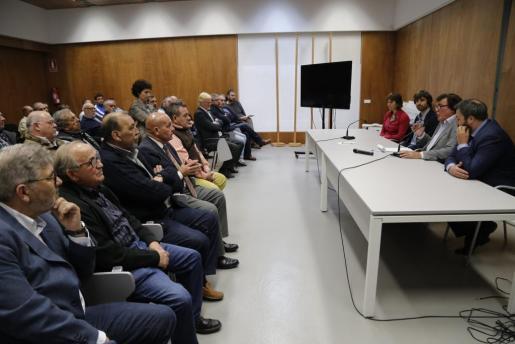 Momento de la reunión de la Federació de Futbol de les Illes Balears.