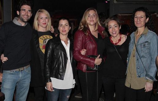 Joan Llop, Pilar Ortiz, Noemí Márquez, Susana Mesquida, Imma Iglesias y Amalia Martínez.
