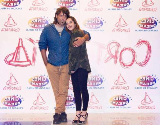 Xavi Herrero con su hija Ainhoa.