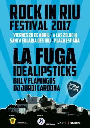 Cartel promocional de Rock in Riu.