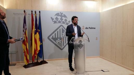 Antoni Noguera, durante la rueda de prensa.