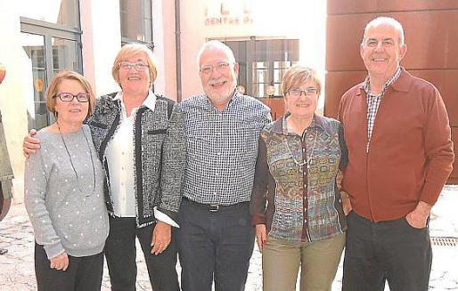 Magdalena Grau, Catalina Horrach, Biel Busquets, Catalina Salas y Rafael Luis.