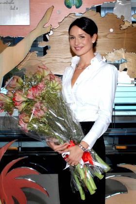 Imagen de Nicole Minetti, la ex bailarina e higienista dental del primer ministro italiano, Silvio Berlusconi, cuyo nombre suena como novia del mandatario.