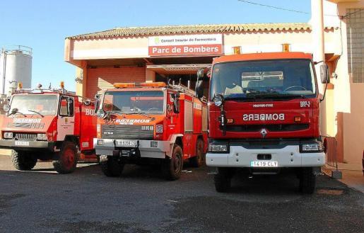 Imagen de archivo del parque de bomberos del Consell de Formentera.