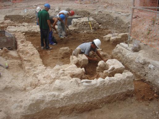 Imagen del nuevo yacimiento fenicio encontrado en el Castillo.