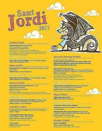 Cartel promocional del día del libro en Formentera.