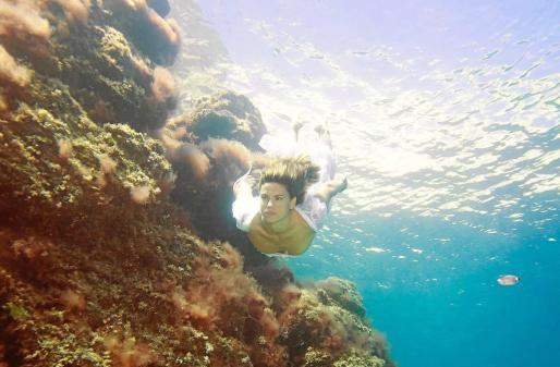 Eva Gómez, en una imagne tomada en Atlantis por el fotógrafo Marcelo Bilevich.