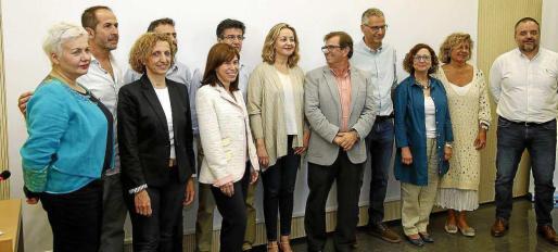 Desde la izquierda, Rodríguez, Fernández, Fullana, Varona, Paniza, Frau, Fornés, Huguet , Aguiló, Seguí, Llompart y Llabrés. Foto: J.T.
