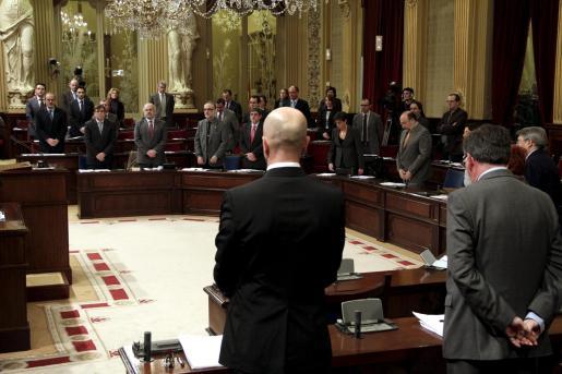 Imagen del Pleno del Parlament de esta mañana.