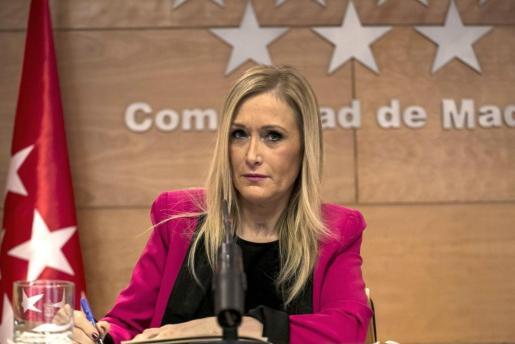 Fotografía de archivo tomada el 17/01/2017 de la presidenta de la Comunidad de Madrid, Cristina Cifuentes.