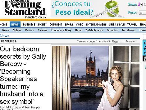 Sally Bercow, esposa del «speaker» (presidente) de los Comunes, ha causado indignación o hilaridad.