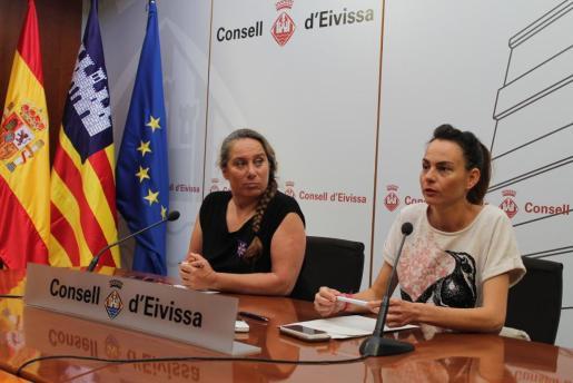 Rueda de prensa de Viviana de Sans, vicepresidenta primera del Consell, y Lydia Jurado, consellera de Bienestar Social.