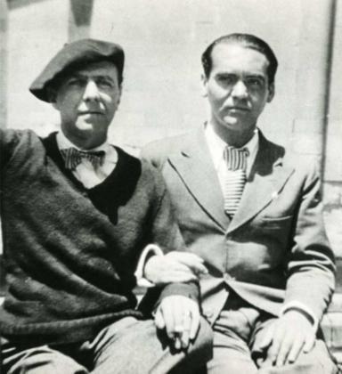 El diplomático chileno Carlos Morlá Lynch junto a Federico García Lorca en una fotografía de archivo.