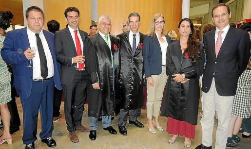 Ramón Palou, Gabriel Tous, Cristóbal Sastre, Miquel Reus, Neus Linares, María Libertad Corado y Miquel Albertí.