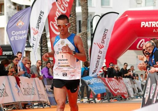 Adrián Guirado, en el Ibiza Medio Maratón del pasado mes de abril.