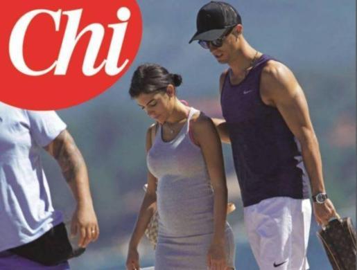 Cristiano Ronaldo y Georgina Rodríguez en una imagen de 'Chi'.
