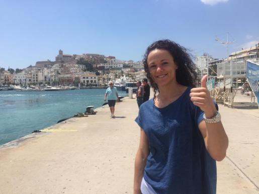 Imagen de Daniel Piedade ayer en el puerto de Ibiza.