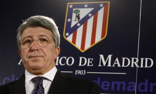 El presidente del Atlético de Madrid, Enrique Cerezo.