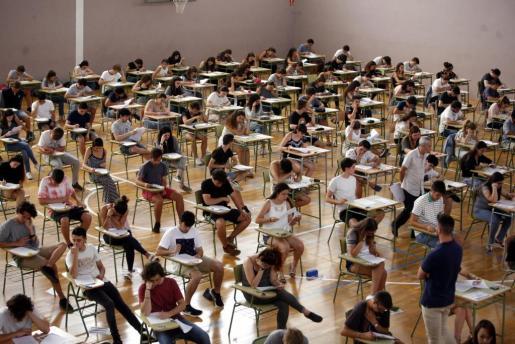 Una de las pruebas realizadas en un instituto de Alaior.