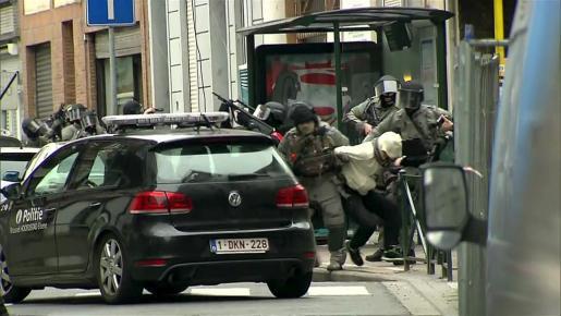Detención en Bélgica del terrorista yihadista de Salah Abdeslam.