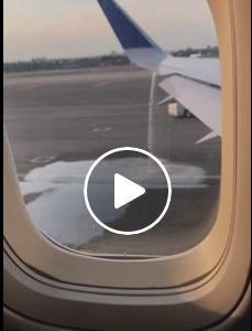 Un avión de United Airlines pierde el combustible antes de despegar de Nueva York.