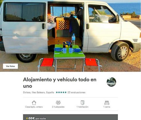 Airbnb ofrece más de 4.700 alquileres de casas y habitaciones para turistas en Ibiza.