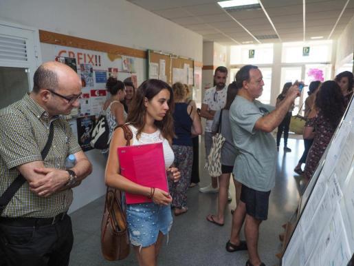 Los exámenes se realizaron ayer en el instituto Sa Colomina de Vila.