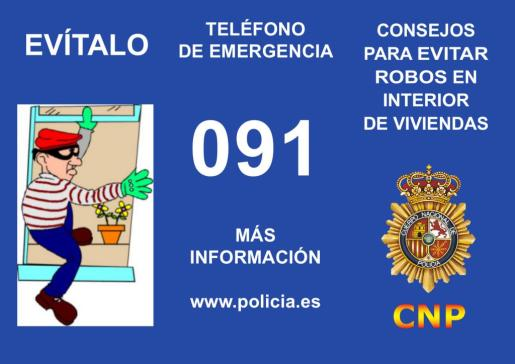 La Policía Nacional ha emitido una serie de consejos para evitar los robos en domicilios durante las vacaicones.