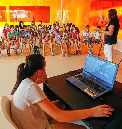 Un momento del taller que se llevó a cabo ayer por la tarde en el Centro Cultural de Jesús.