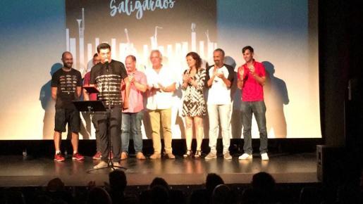 Un momento de la presentación del videoclip el martes por la noche en Can Jeroni.