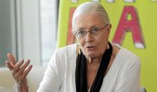 La cineasta inglesa Vanessa Redgrave, ayer, durante la entrevista en Ciutat.
